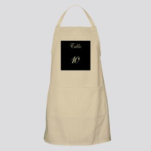 Table Number Apron