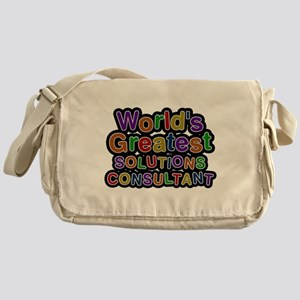 Worlds Greatest SOLUTIONS CONSULTANT Messenger Bag