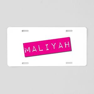 Maliyah Punchtape Aluminum License Plate