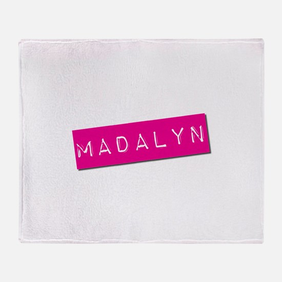 Madalyn Punchtape Throw Blanket