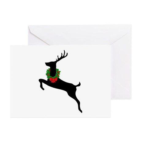 Stag & Wreath Greeting Cards (Pk of 10)