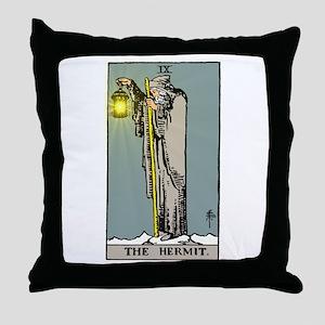 Hermit Tarot Throw Pillow