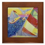 """Sailing"" Framed Tile"