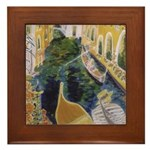"""Gondolier of Venice"" Framed Tile"