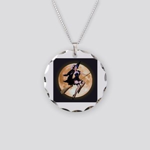 Sexy Witch Necklace Circle Charm