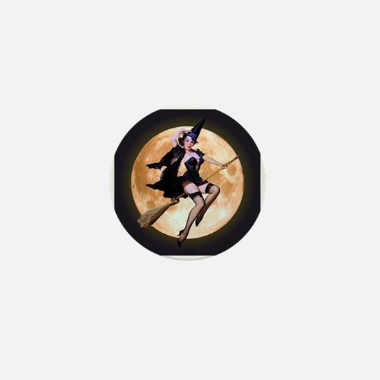 Sexy Witch Mini Button