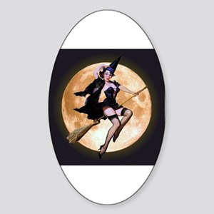 Sexy Witch Sticker (Oval)