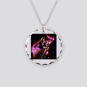 Sexy Cosmic Witch Necklace Circle Charm