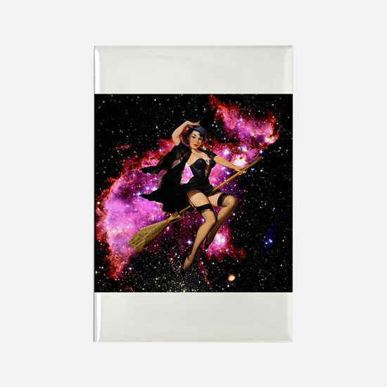 Sexy Cosmic Witch Rectangle Magnet
