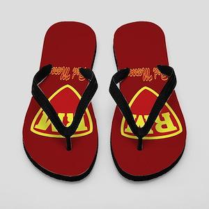 Castle Red Maroon Logo Flip Flops