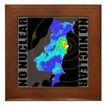 No nuclear map Framed Tile