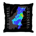 No nuclear map Throw Pillow