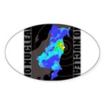 No nuclear map Sticker (Oval)