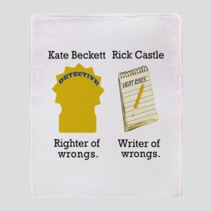 Castle - Righter Writer of Wrongs Throw Blanket