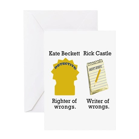Castle - Righter Writer of Wrongs Greeting Card
