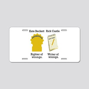 Castle - Righter Writer of Wrongs Aluminum License