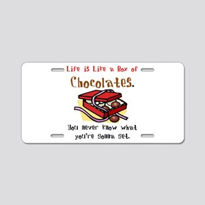 Life is a Box of Chocolates Aluminum License Plate