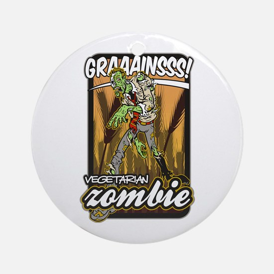 Vegetarian Zombie Ornament (Round)