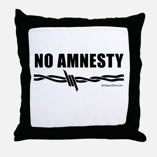 No amnesty -  Throw Pillow
