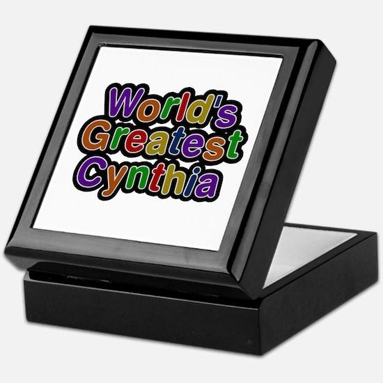 World's Greatest Cynthia Keepsake Box