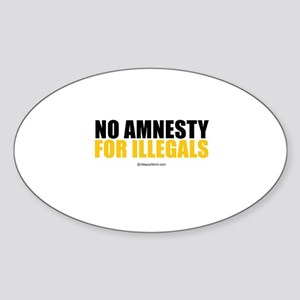 No Amnesty - Oval Sticker