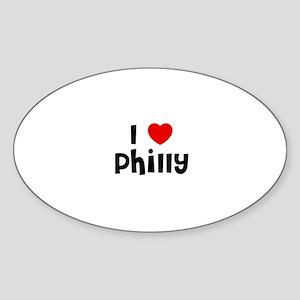 I * Philly Oval Sticker