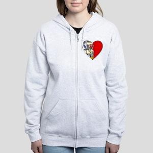 2-Sided Half My Heart Women's Zip Hoodie