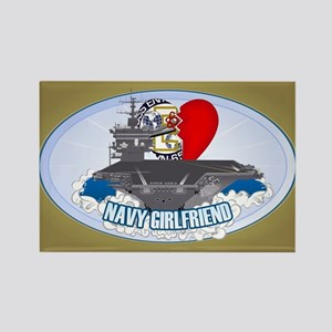 Navy Girlfriend Rectangle Magnet
