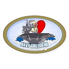 Navy Girlfriend Sticker (Oval)