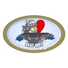 Navy Wife Sticker (Oval)