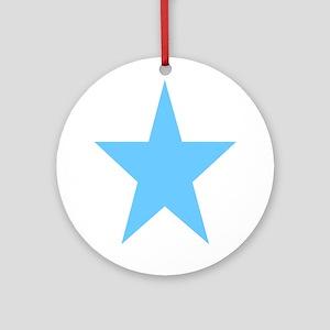 Blue Star Ornament (Round)