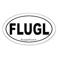 Flugelhorn Sticker (Oval)