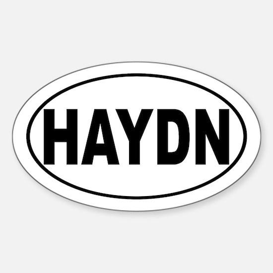 Haydn Music Composer Sticker (Oval)