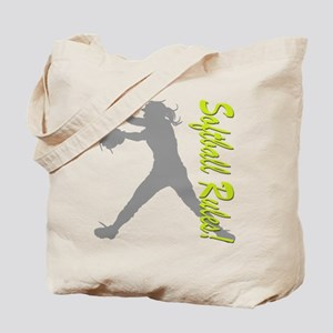 Girls Softball Tote Bag
