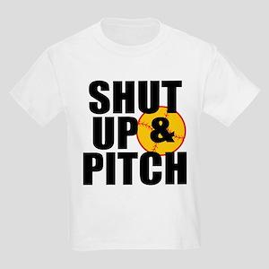 Girls Softball Kids Light T-Shirt