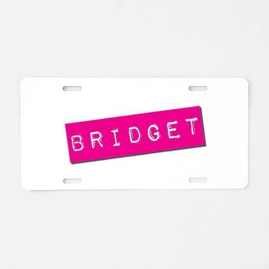 Bridget Punchtape Aluminum License Plate