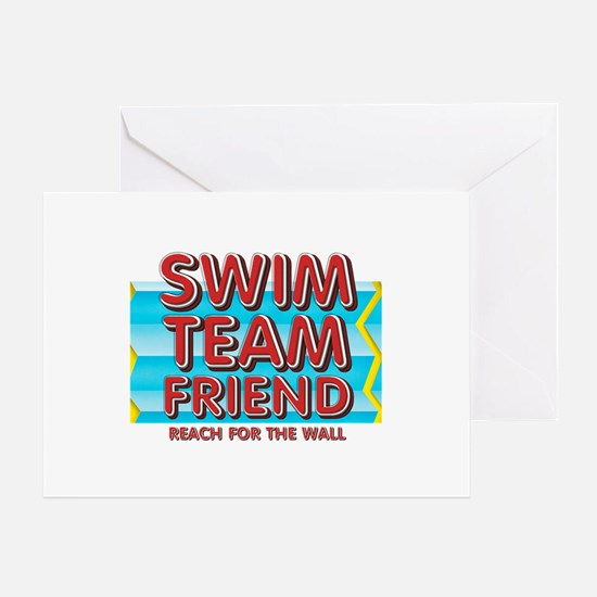 Swim Team Friend Greeting Card