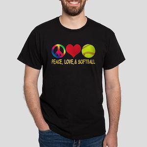 Girls Softball Dark T-Shirt