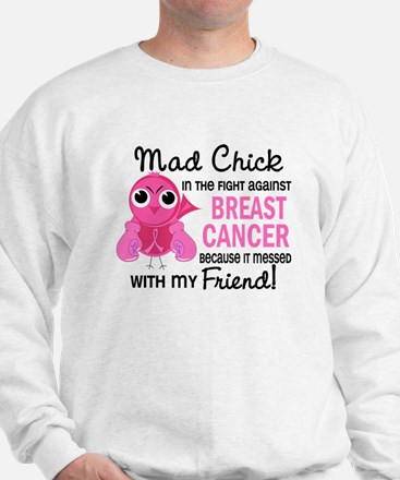 Mad Chick 2 Breast Cancer Sweatshirt