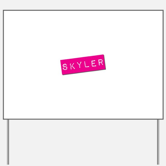 Skyler Punchtape Yard Sign