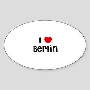 I * Berlin Oval Sticker