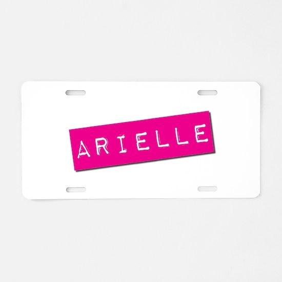 Arielle Punchtape Aluminum License Plate