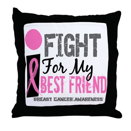 Fight For My Breast Cancer Throw Pillow