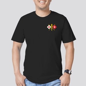 Signal Branch Insignia Men's Fitted T-Shirt (dark)