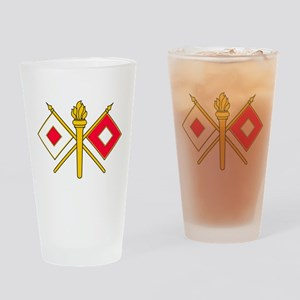 Signal Branch Insignia Drinking Glass