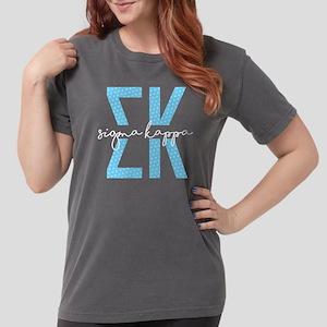 Sigma Kappa Polka Dots Womens Comfort Colors Shirt
