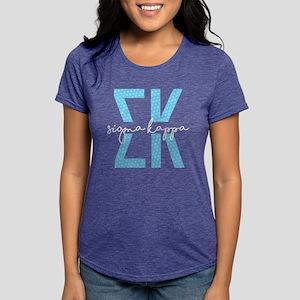 Sigma Kappa Polka Dots Womens Tri-blend T-Shirt