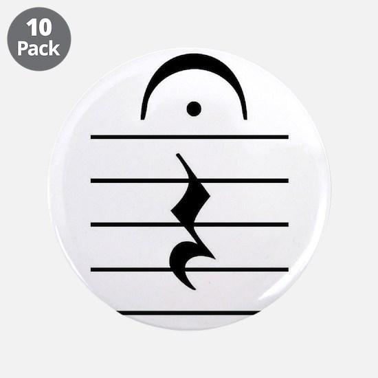 "Cute Musician 3.5"" Button (10 pack)"