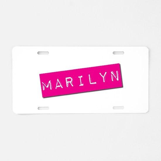 Marilyn Punchtape Aluminum License Plate