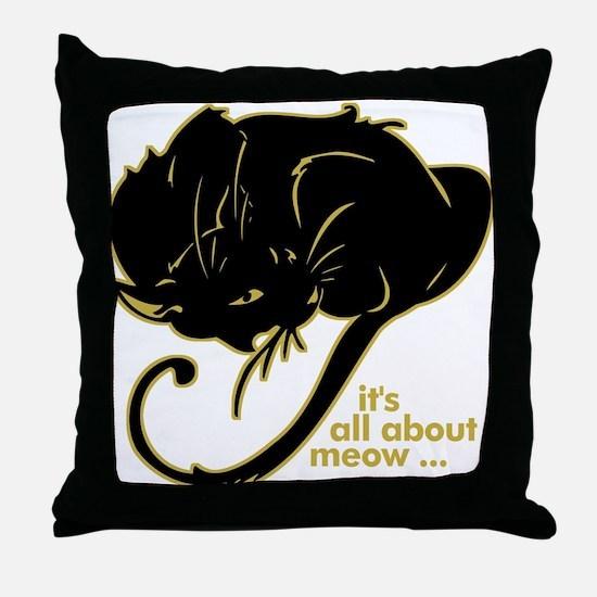 Funny Kitty Cat Kitten Throw Pillow